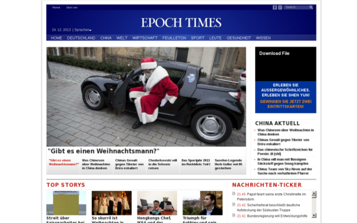 Access epochtimes.de using Hola Unblocker web proxy