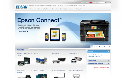 Access epson.ca using Hola Unblocker web proxy