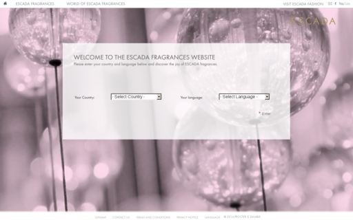 Access escada-fragrances.com using Hola Unblocker web proxy