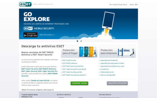 Access eset.com.mx using Hola Unblocker web proxy