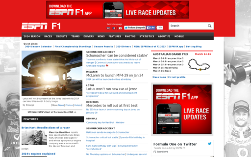 Access espnf1.com using Hola Unblocker web proxy