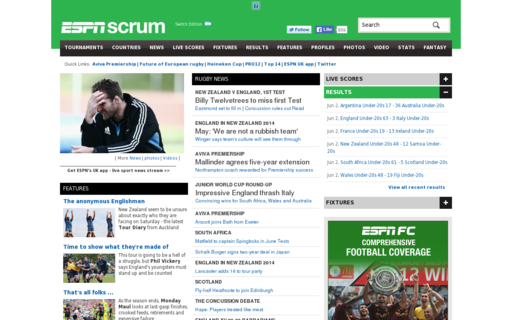 Access espnscrum.com using Hola Unblocker web proxy