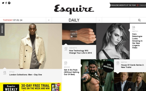 Access esquire.co.uk using Hola Unblocker web proxy