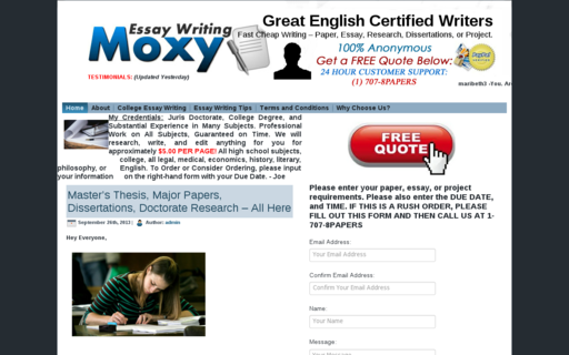 Access essaywritingmoxy.com using Hola Unblocker web proxy