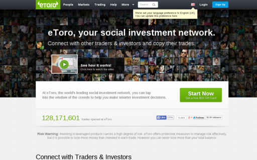 Access etoro.com using Hola Unblocker web proxy
