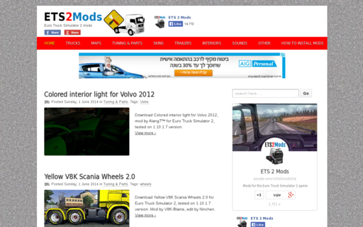 Access ets2mods.org using Hola Unblocker web proxy