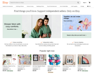 Access etsy.com using Hola Unblocker web proxy
