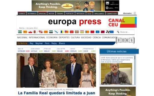 Access europapress.es using Hola Unblocker web proxy