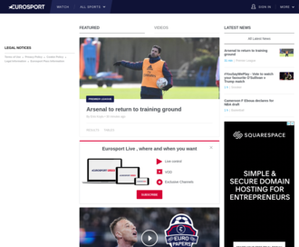 Access eurosport.com using Hola Unblocker web proxy