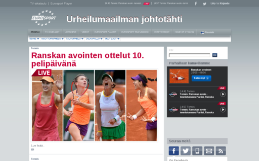 Access eurosport.fi using Hola Unblocker web proxy