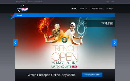 Access eurosportplayer.fr using Hola Unblocker web proxy