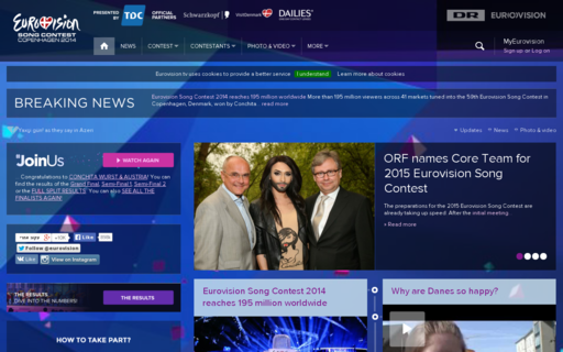 Access eurovision.tv using Hola Unblocker web proxy