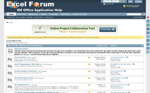 Access excelforum.com using Hola Unblocker web proxy