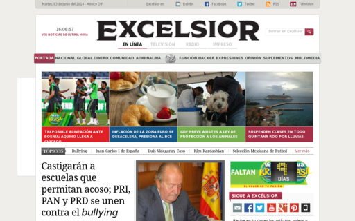 Access excelsior.com.mx using Hola Unblocker web proxy