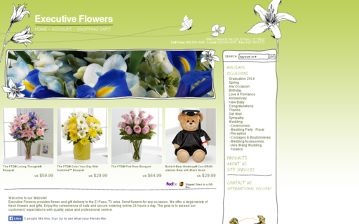 Access executiveflowersandgifts.com using Hola Unblocker web proxy