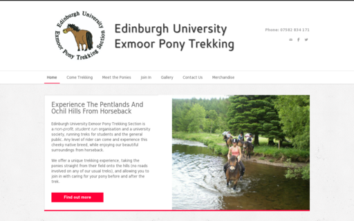 Access exmoorponytrekking.co.uk using Hola Unblocker web proxy