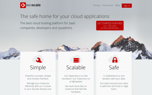 Access exoscale.ch using Hola Unblocker web proxy