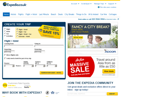Access expedia.co.uk using Hola Unblocker web proxy