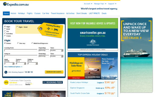 Access expedia.com.au using Hola Unblocker web proxy