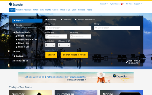 Access expedia.com using Hola Unblocker web proxy
