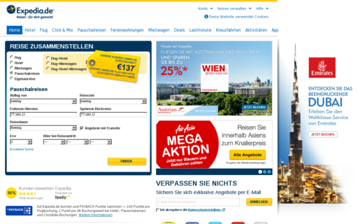 Access expedia.de using Hola Unblocker web proxy