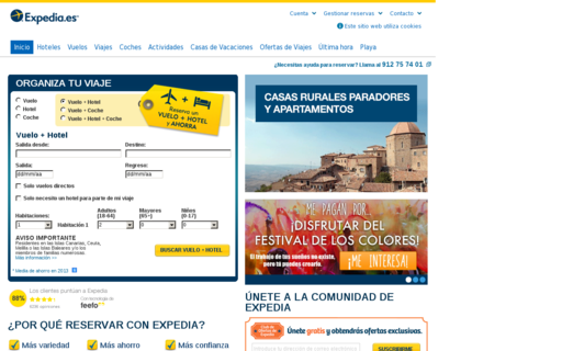 Access expedia.es using Hola Unblocker web proxy