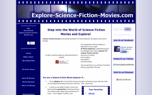 Access explore-science-fiction-movies.com using Hola Unblocker web proxy