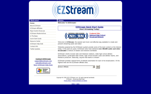 Access ezstream.com using Hola Unblocker web proxy
