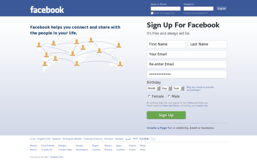 Access facebook.ie using Hola Unblocker web proxy