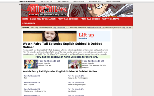 Access fairytail.tv using Hola Unblocker web proxy