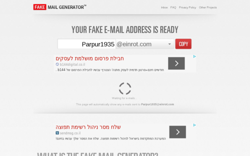 Access fakemailgenerator.com using Hola Unblocker web proxy