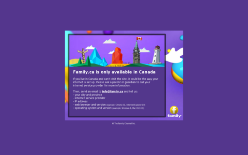Access family.ca using Hola Unblocker web proxy