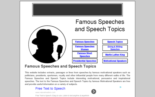 Access famous-speeches-and-speech-topics.info using Hola Unblocker web proxy