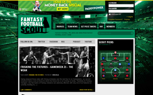 Access fantasyfootballscout.co.uk using Hola Unblocker web proxy