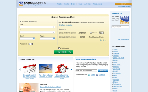 Access farecompare.com using Hola Unblocker web proxy