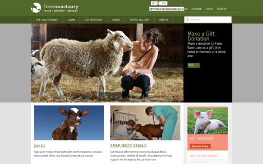 Access farmsanctuary.org using Hola Unblocker web proxy