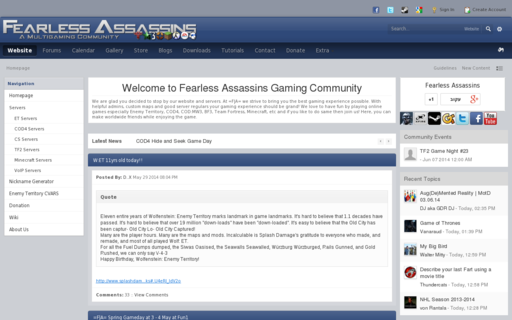 Access fearless-assassins.com using Hola Unblocker web proxy