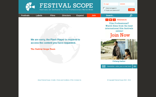 Access festivalscope.com using Hola Unblocker web proxy