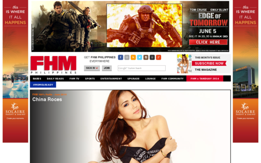 Access fhm.com.ph using Hola Unblocker web proxy