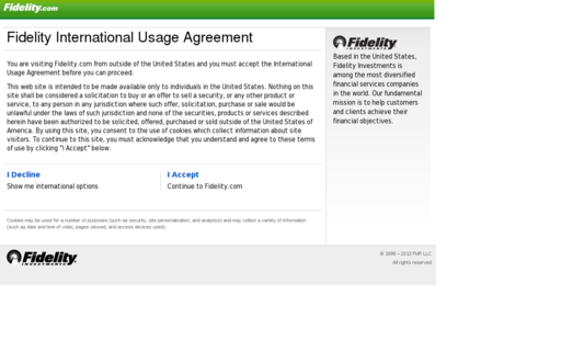 Access fidelity.com using Hola Unblocker web proxy