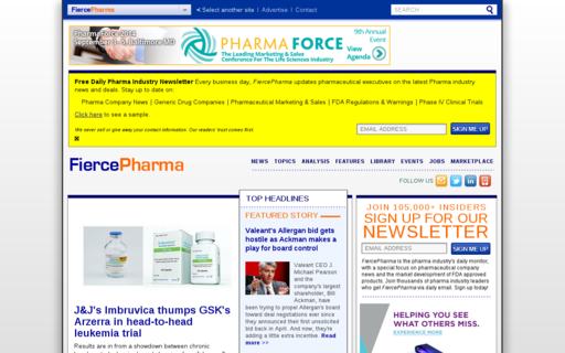 Access fiercepharma.com using Hola Unblocker web proxy