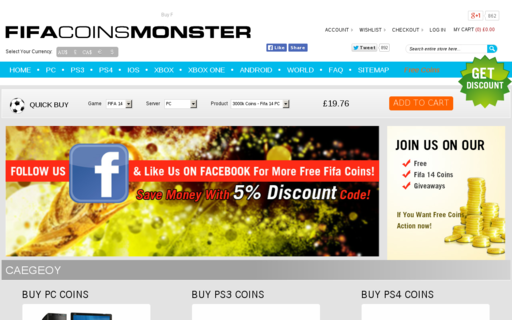 Access fifacoinsmonster.com using Hola Unblocker web proxy