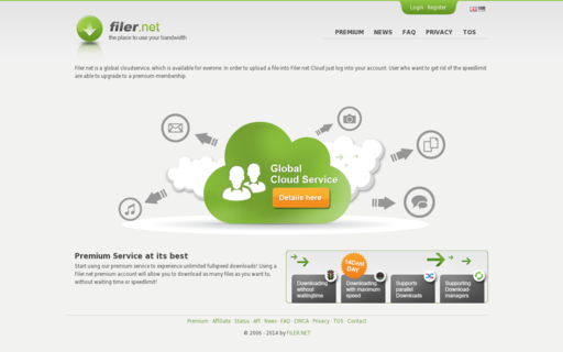 Access filer.net using Hola Unblocker web proxy