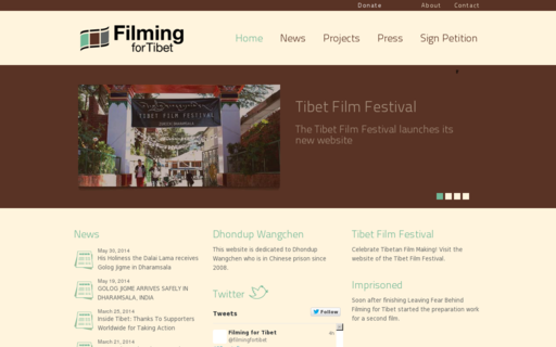 Access filmingfortibet.org using Hola Unblocker web proxy