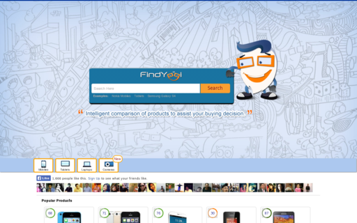 Access findyogi.com using Hola Unblocker web proxy