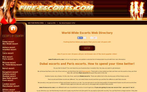 Access fire-escorts.com using Hola Unblocker web proxy