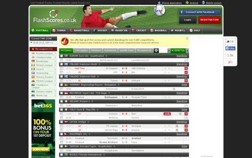 Access flashscores.co.uk using Hola Unblocker web proxy