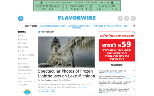 Access flavorwire.com using Hola Unblocker web proxy