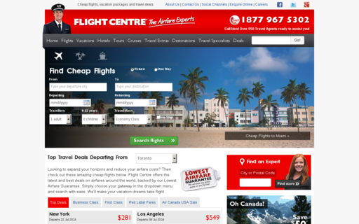 Access flightcentre.ca using Hola Unblocker web proxy