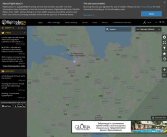 Access flightradar24.com using Hola Unblocker web proxy